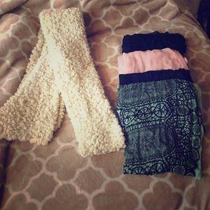 Infinity cotton scarves popcorn wrap scarf nwot